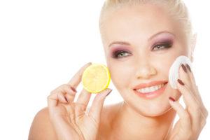 limón para tratamiento facial