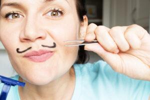eliminar vello de bigote