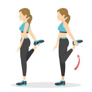 ejercicio estiramiento de cuadricep